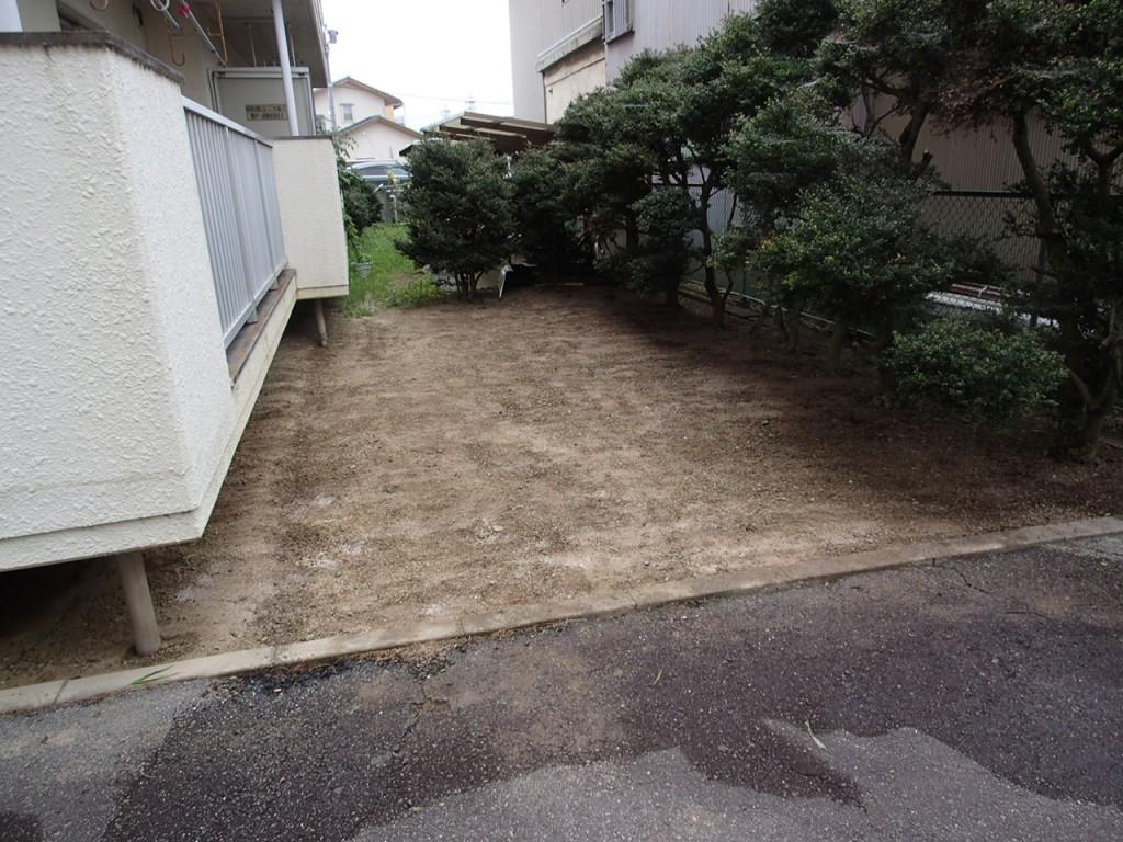 安城市 アパート 草刈り作業後